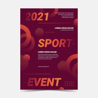 Folheto de evento esportivo