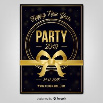 Folheto de festa de ano novo 2019