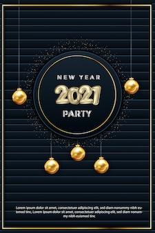 Folheto de festa de ano novo 2021