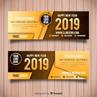 Folheto de festa de ano novo de 2019