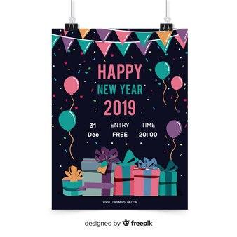 Folheto de festa de ano novo