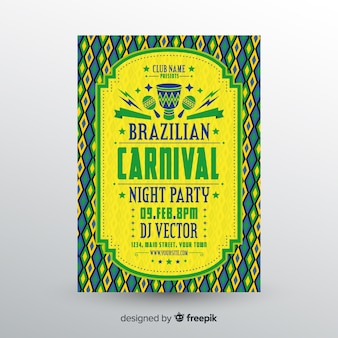 Folheto de festa de carnaval brasileiro