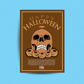 Folheto de festa de halloween