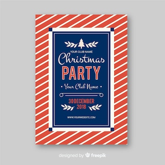 Folheto de festa de natal