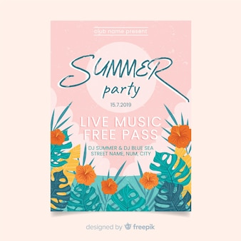 Folheto de festa de verão