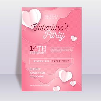 Folheto de festa do dia dos namorados em estilo jornal