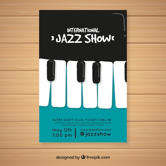 Folheto de festival de música com piano