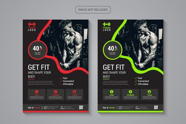 Folheto de fitness e ginásio