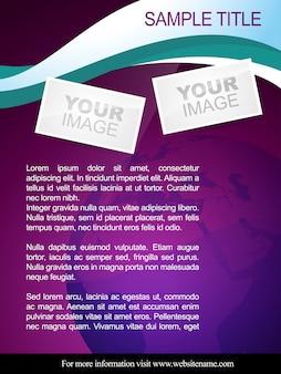 Folheto de folheto abstrato de vetores e design de modelo