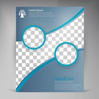 Folheto de folhetos modernos de vetores abstratos.