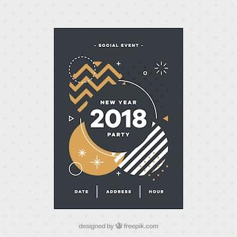 Folheto de formulários abstratos de 2018