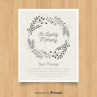 Folheto de funeral clássico com estilo elegante