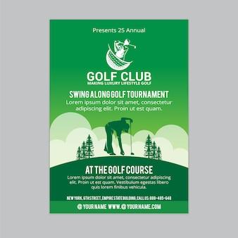 Folheto de golfe 1