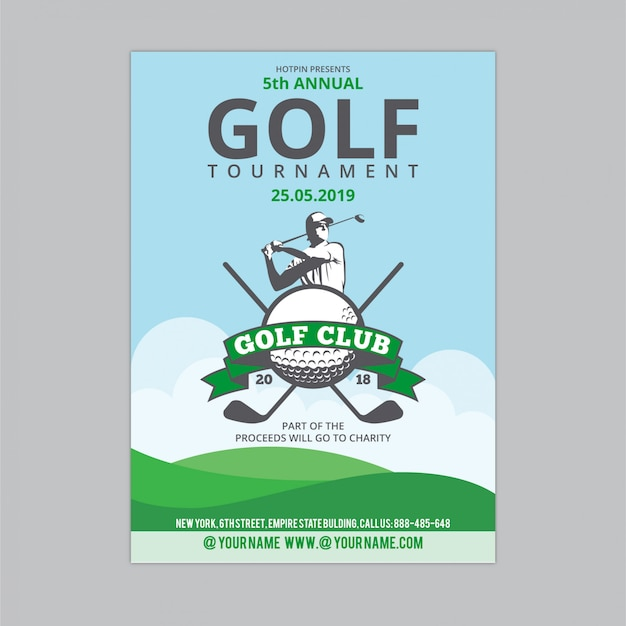 Folheto de golfe 2