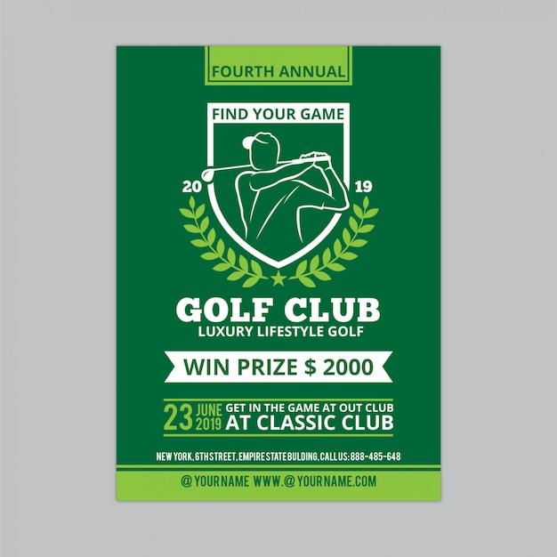 Folheto de golfe 3