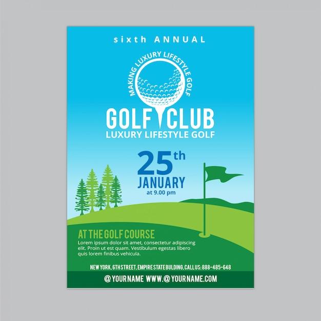 Folheto de golfe 4