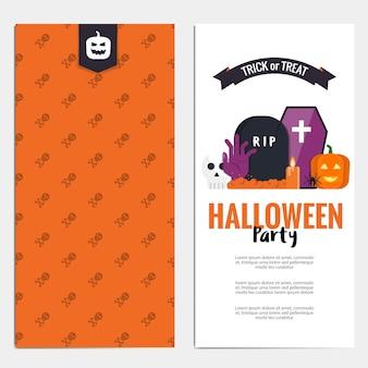 Folheto de hallowen