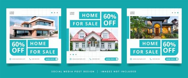Folheto de imóveis minimalista ou banner de mídia social