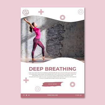 Folheto de ioga vertical