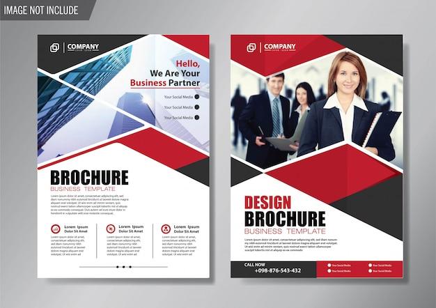Folheto de layout de design e brochura modelo de negócios para o relatório anual de fundo