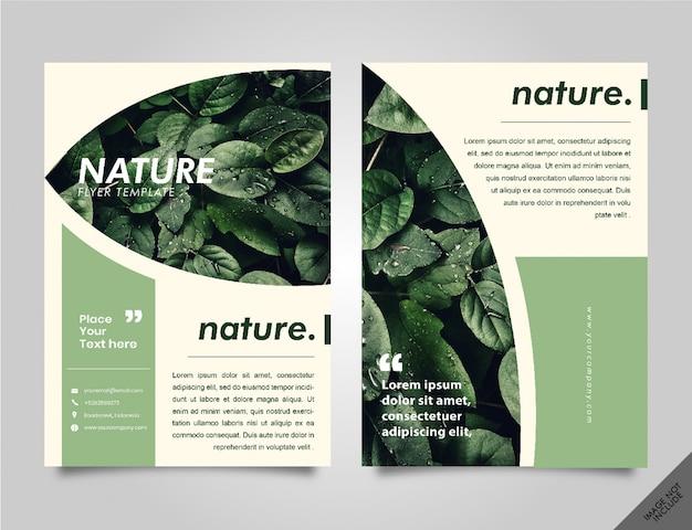 Folheto de lookbook da natureza