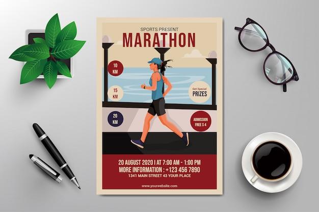 Folheto de maratona