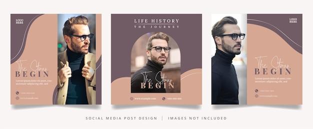 Folheto de marca pessoal ou banner de mídia social
