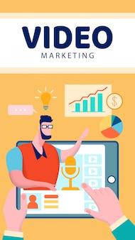 Folheto de marketing de vídeo