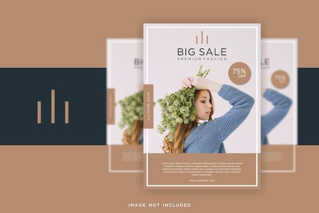 Folheto de moda minimalista