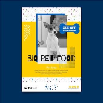 Folheto de modelo de comida animal