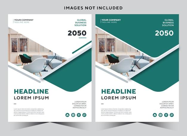 Folheto de modelo de design de relatório anual