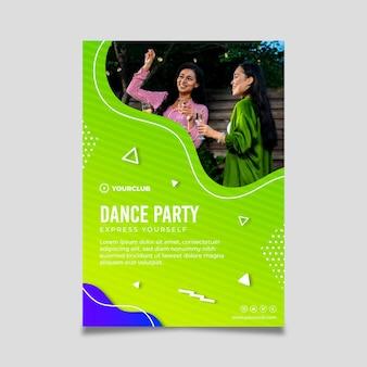 Folheto de modelo de festa dançante