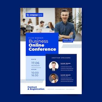 Folheto de modelo de webinar para conferência online