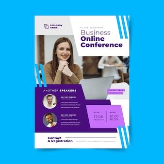 Folheto de modelo de webinar para negócios