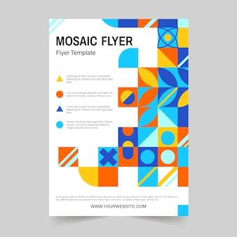 Folheto de mosaico de design plano