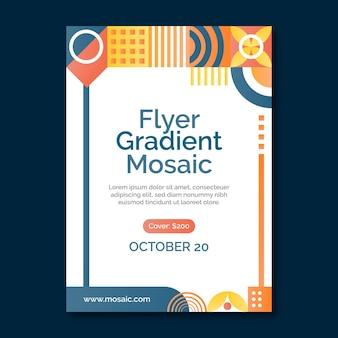 Folheto de mosaico gradiente