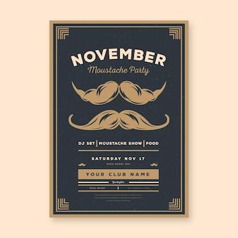 Folheto de movember / cartaz