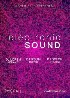 Folheto de música. conceito de capa de show geométrico. forma e linha de gradiente dinâmico. folheto de música neon. electro dance dj. festival de som eletrônico. festa techno trance. cartaz do evento do clube.