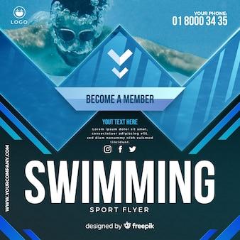 Folheto de natação
