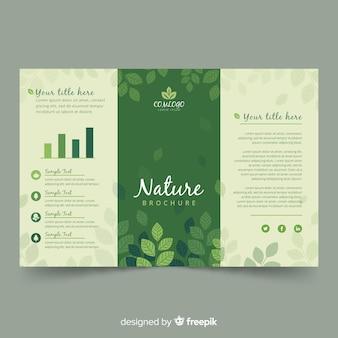 Folheto de natureza com três dobras