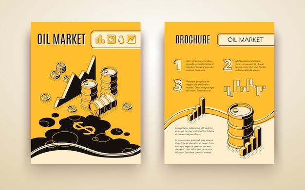 Folheto de negociação de petróleo