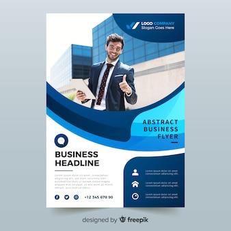 Folheto de negócios abstratos com modelo de foto