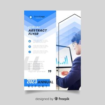 Folheto de negócios abstratos modelo com foto