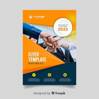 Folheto de negócios abstratos modelo com imagem