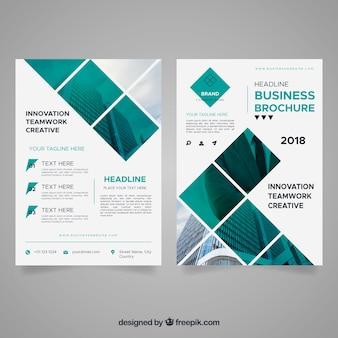 Folheto de negócios abstratos
