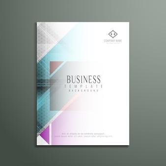Folheto de negócios colorido e geométrico elegante