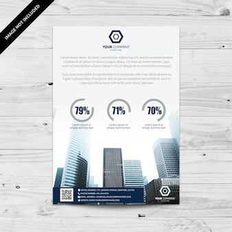 Folheto de negócios com porcentagem de design