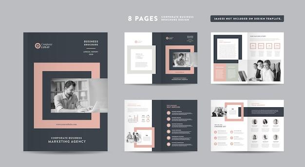Folheto de negócios corporativos ou relatório anual e empresa
