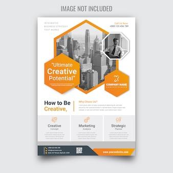 Folheto de negócios corporativos