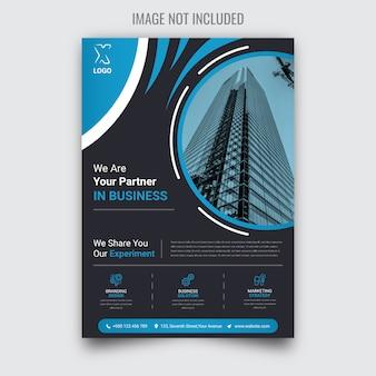 Folheto de negócios criativos e corporativos